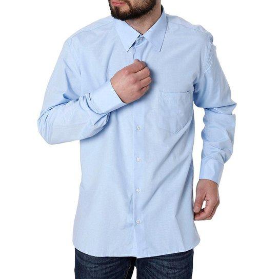 188fdf5ed4 Camisa Manga Longa Enzo Vitorino Masculina - Azul
