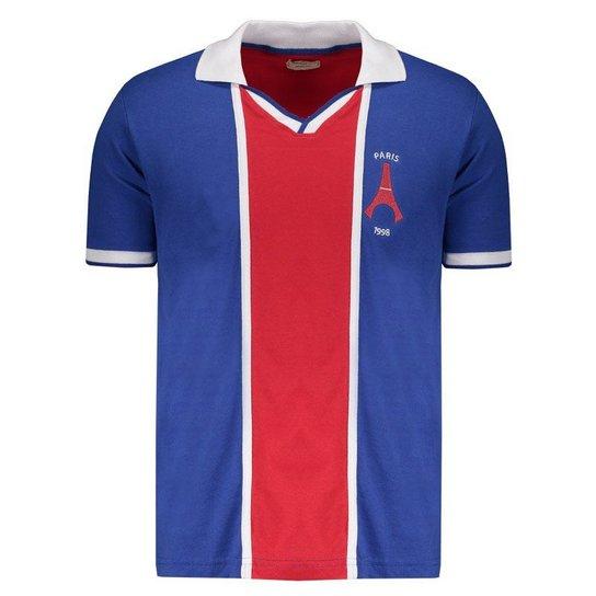 f60e38bde Camisa Retrômania Paris Saint Germain 1998 - Azul - Compre Agora ...
