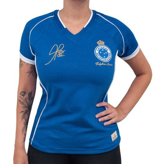 Camisa Retrô Mania Cruzeiro 2003 - Alex - Tríplice Coroa Feminina - Azul aa7bb9ed262db