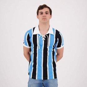 Camisa Retrô Gol Grêmio Réplica 83 Libertadores Masculina - Azul e ... 68cfa84ebe605