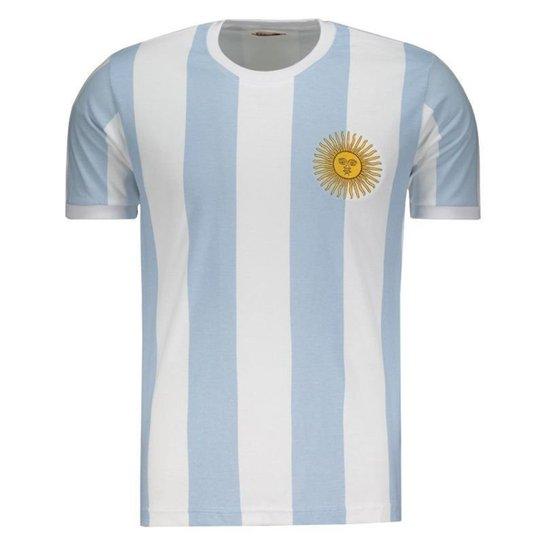 5f51aae67e Camisa Argentina Retrô 1986 Masculina - Azul - Compre Agora
