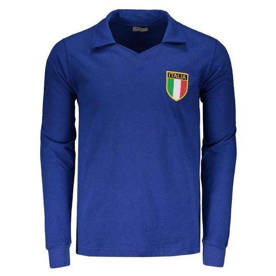 85d1a70dfa145 Camisa Itália Retrô 1982 Manga Longa Masculina - Compre Agora