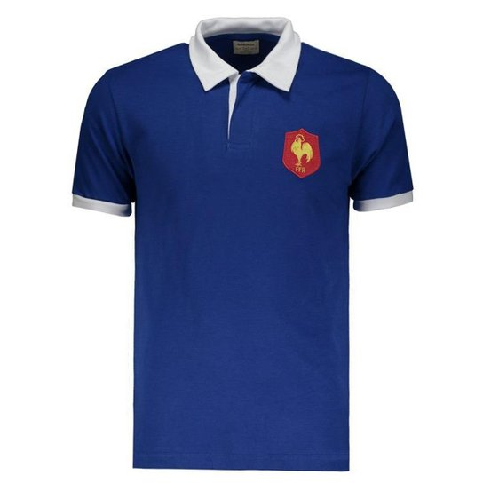 3837c5a43e Camisa França Retrô Rugby Masculina - Azul | Netshoes