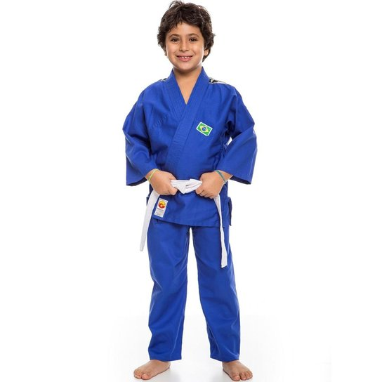 14dade857 Kimono Judo Kids Infantil Dragão - Azul