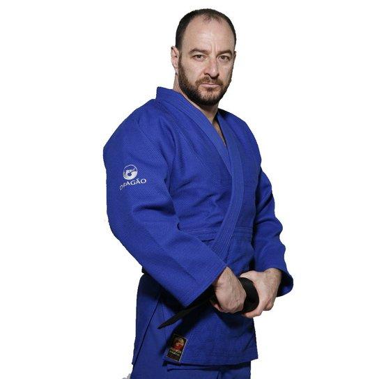 b9b9a1cec Kimono Judo Série Ouro Adulto Dragão - Azul