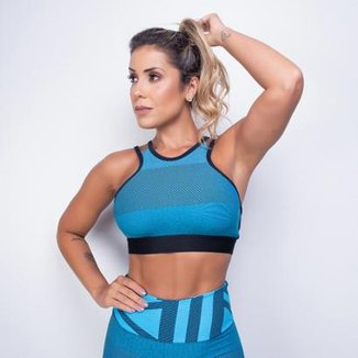 Top Fitness Honey Be Jacquard Feminino