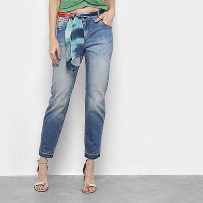 Calça Jeans Morena Rosa Lenço Feminina