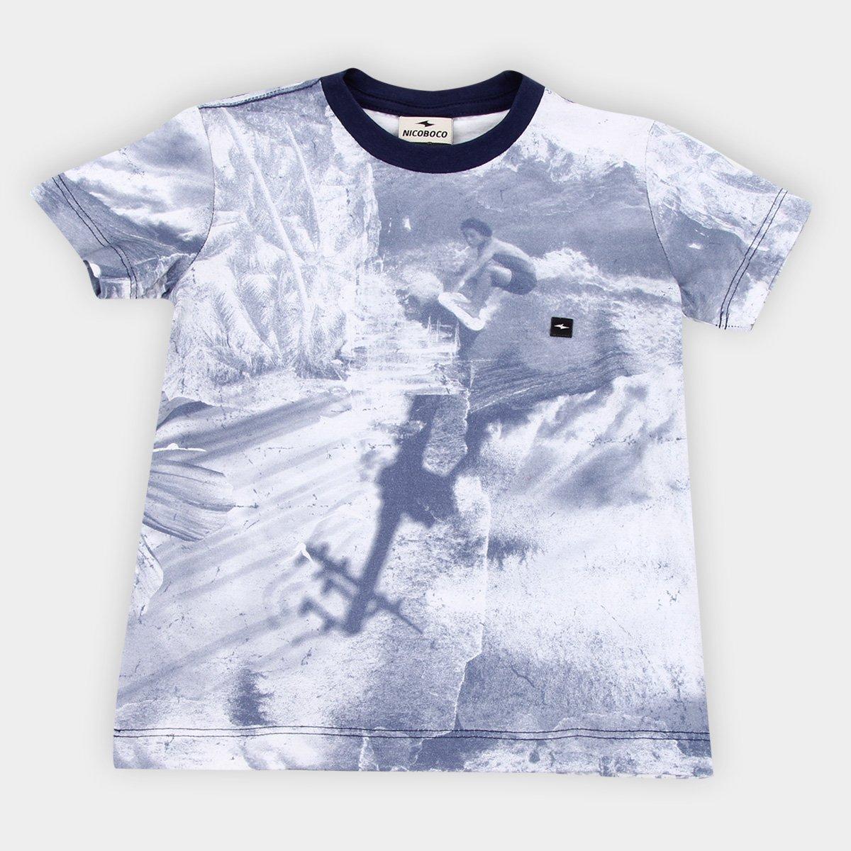 Camiseta Digital Infantil Nicoboco Monferno Masculina
