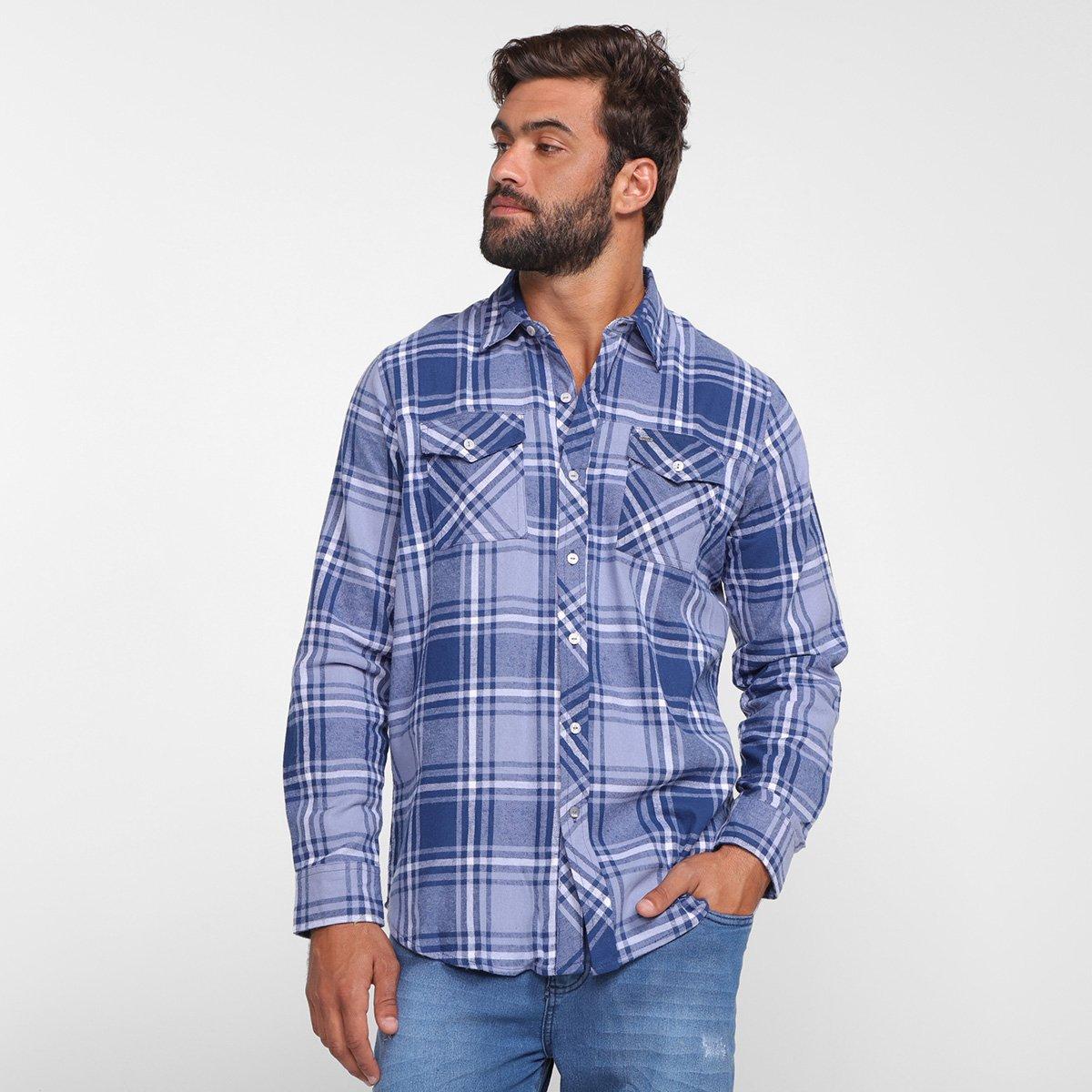Foto 1 - Camisa Xadrez Manga Longa Gajang Lumber Masculina