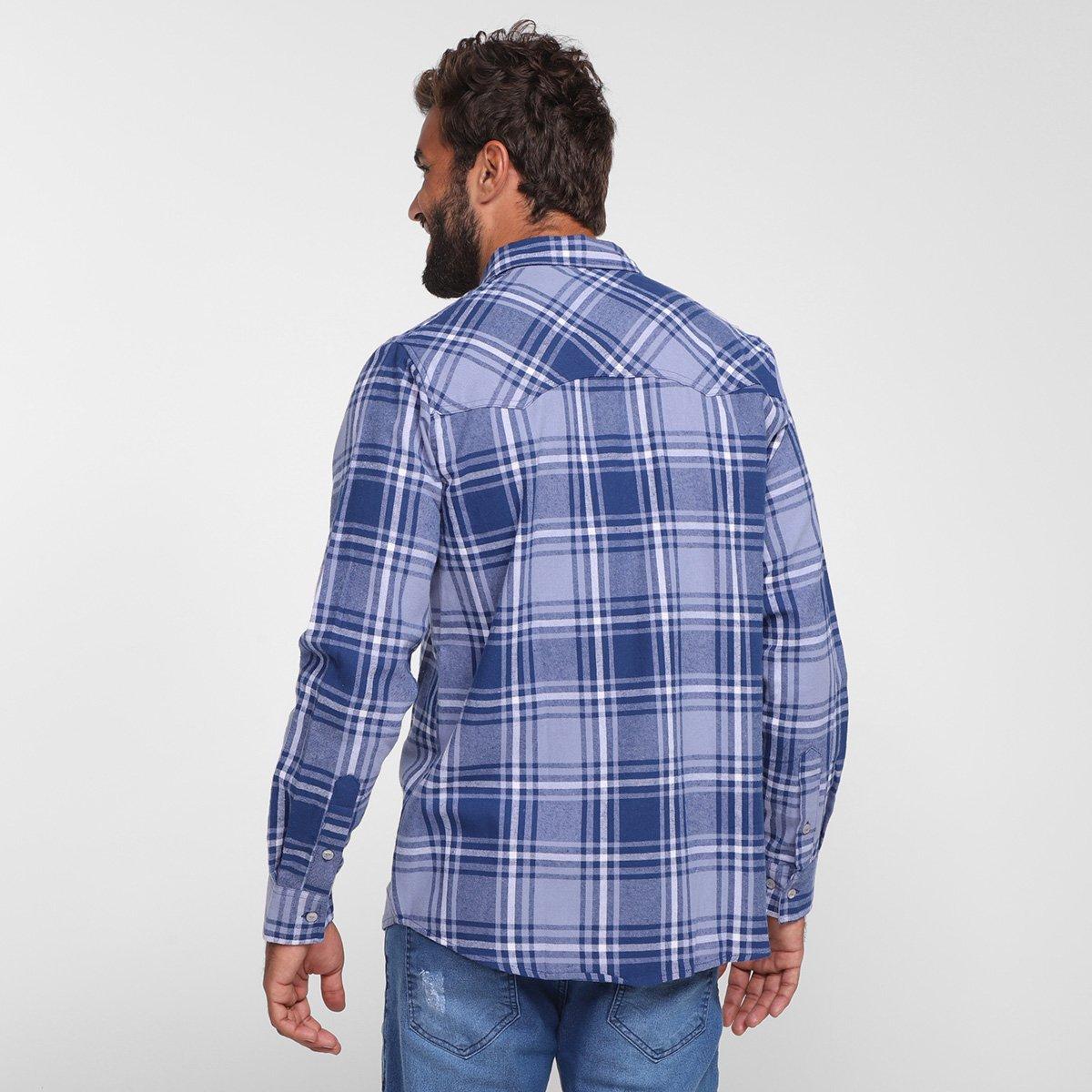 Foto 2 - Camisa Xadrez Manga Longa Gajang Lumber Masculina