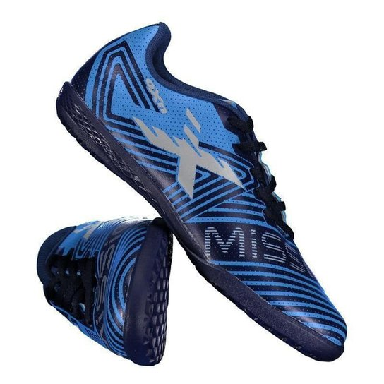 fe64fef2cace7 Chuteira De Futsal Infantil Oxn Mission - Azul - Compre Agora
