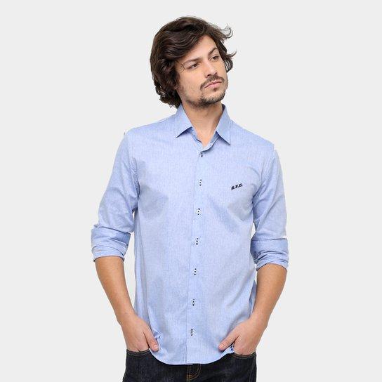3845f1051b Camisa Social Santos Jeans Manga Longa Masculina - Compre Agora ...