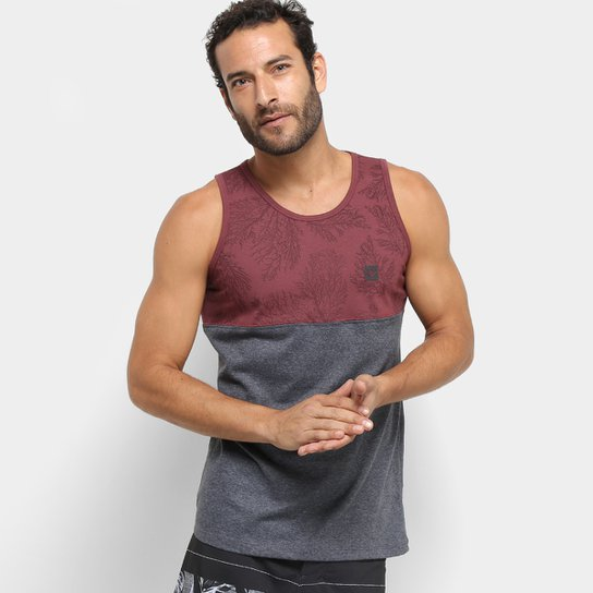 Camiseta Regata Hang Loose Esp Coral -61.24.0036 - Vermelho e Cinza ... a2899c77409