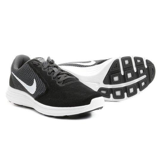 846ec5ff97c Tênis Nike Revolution 3 Feminino - Preto e Off White - Compre Agora ...