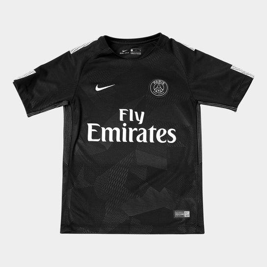 afa3c2a69e Camisa Paris Saint-Germain Juvenil Third 17/18 s/n° - Torcedor Nike ...