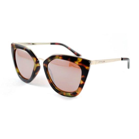 Óculos de Sol Atitude - Onça - Compre Agora   Netshoes 5579e62f3f