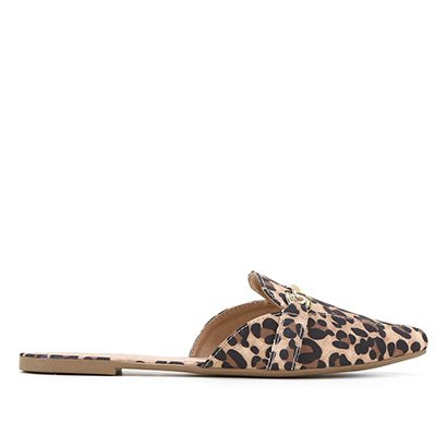 Mule Jelly Bean Animal Print Onça Feminino