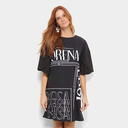 Camiseta Morena Rosa Dress Silk Estampada Feminina