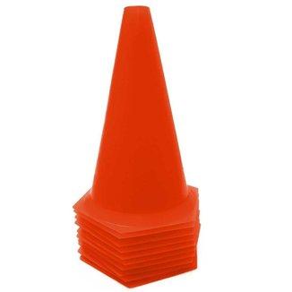 10 Cones 23cm Rígidos p/ Treinamento AX Esportes Vermelho