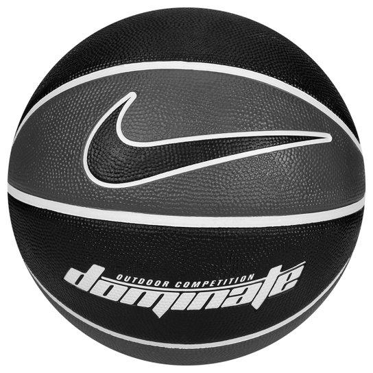 11b571b33 Bola Basquete Nike Dominate - Grafite+Preto ...