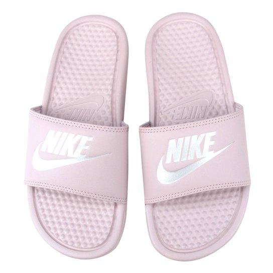 69480ba405c33c Chinelo Nike Benassi JDI Slide Feminina - Rosa e Cinza | Netshoes