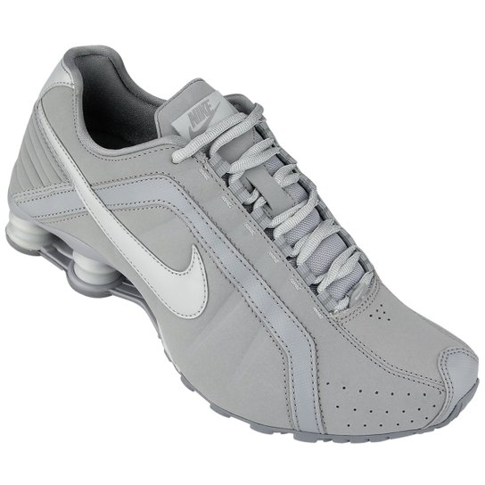 sports shoes 509fd 8dc24 Tênis Nike Shox Junior - Cinza+Prata