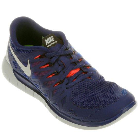 9fb3754994a Tênis Nike Free 5.0 - Marinho+Laranja