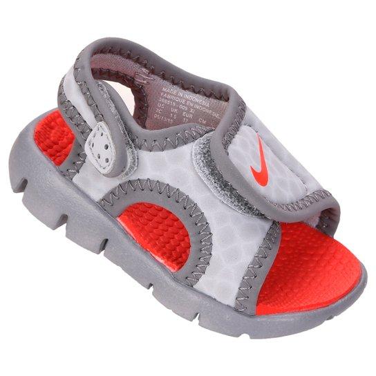 1695cbba10 Sandália Infantil Nike Sunray Adjust 4 - Cinza   Netshoes