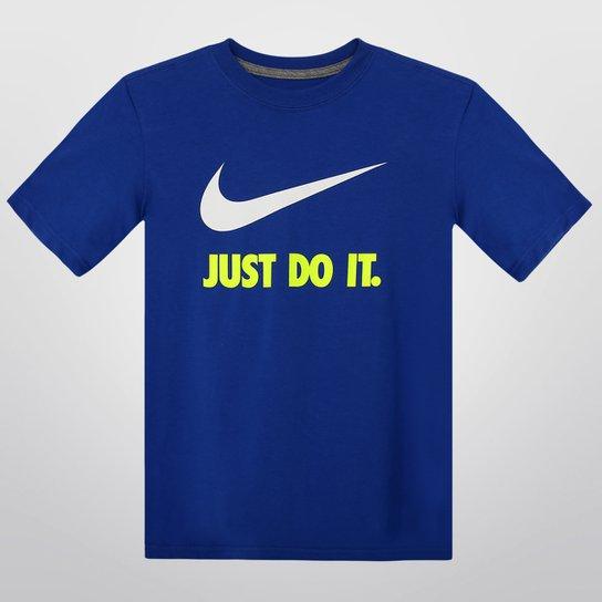 Camiseta Nike Just do It Swoosh Juvenil - Compre Agora  e220fda376f6a