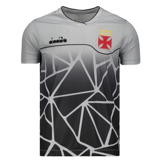 cf8b54dd83 Camisa Diadora Vasco Treino 2018 Masculina - Cinza