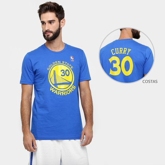 4af76a3b7 Camiseta NBA Golden State Warriors Curry 30 - Azul Royal - Compre ...