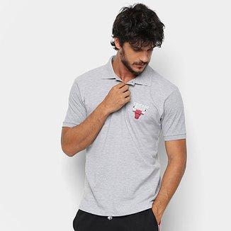 Camiseta Polo NBA Chicago Bulls Mini Logo Masculina 83771718ae6bb