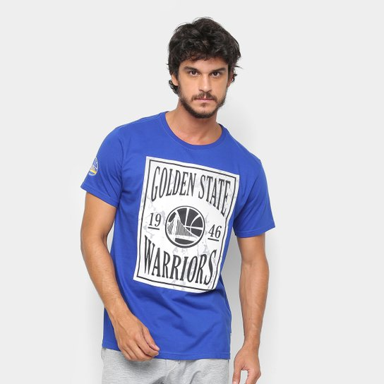 Camiseta NBA Golden State Warriors EST Ticket Masculina - Azul Royal ... 970af4a6c228f