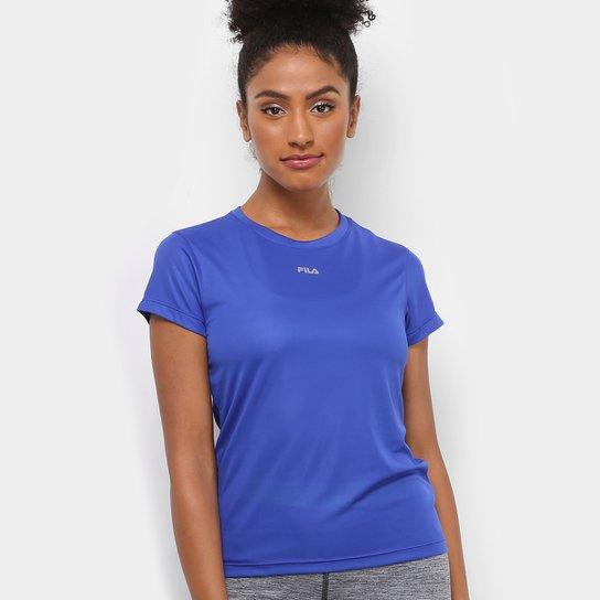 Camiseta Fila Basic Feminina - Azul Royal 6938b888afb09