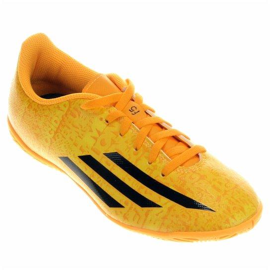 f1bed7f22a234 Chuteira Adidas F5 IN Messi Juvenil - Amarelo+Laranja