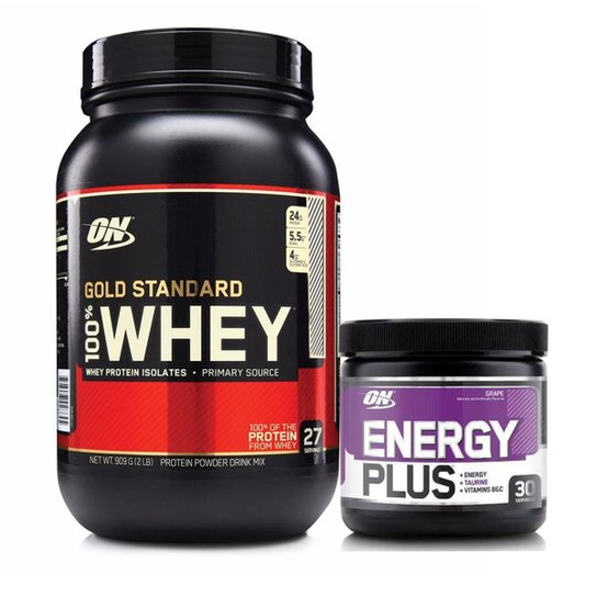 33b16ff52 Kit Whey Gold Standard 900g Double Rich + Energy Plus - Double Rich ...
