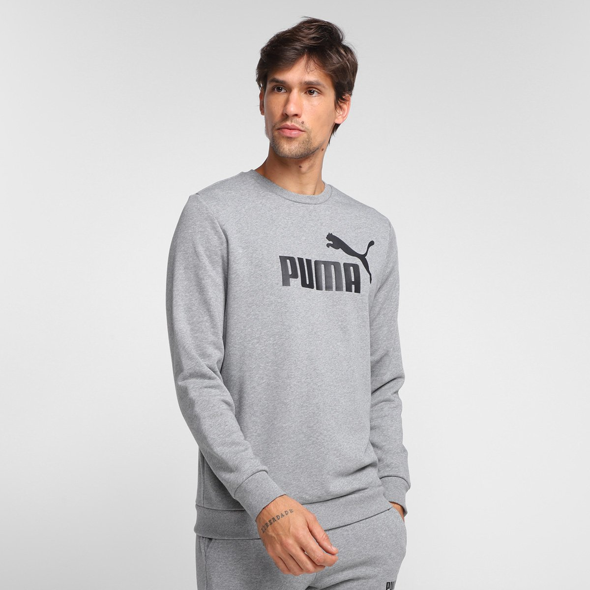 Blusa Puma Ess Big Logo Crew Masculina