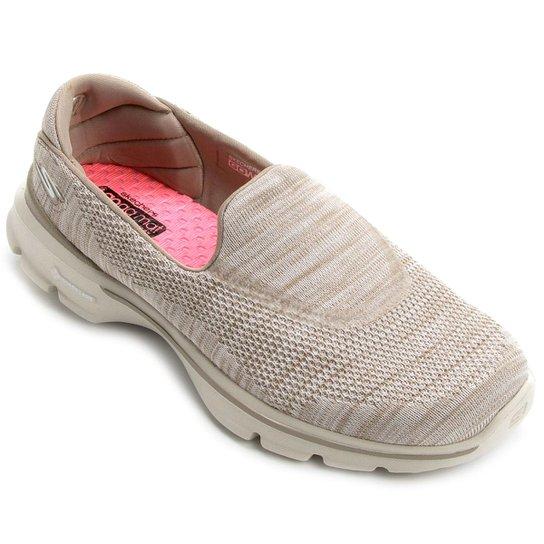 0056a91ffe1 Sapatilha Skechers Go Walk 3 Fitknit - Bege - Compre Agora