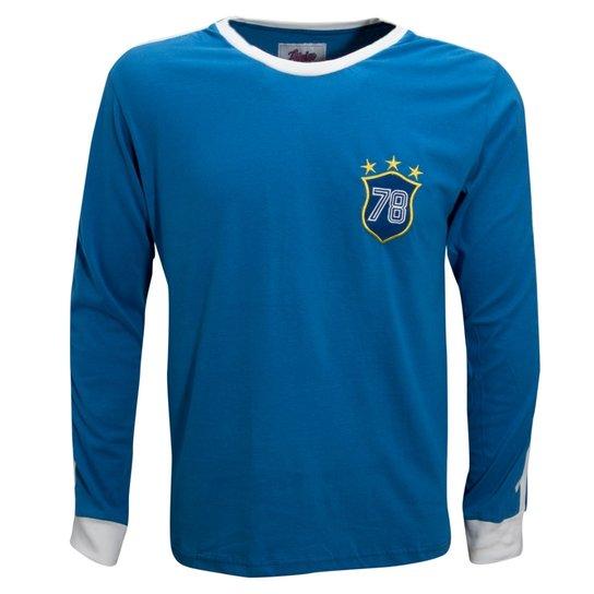 Camisa Liga Retrô Brasil 1978 Longa - Compre Agora  28c0a0c797557