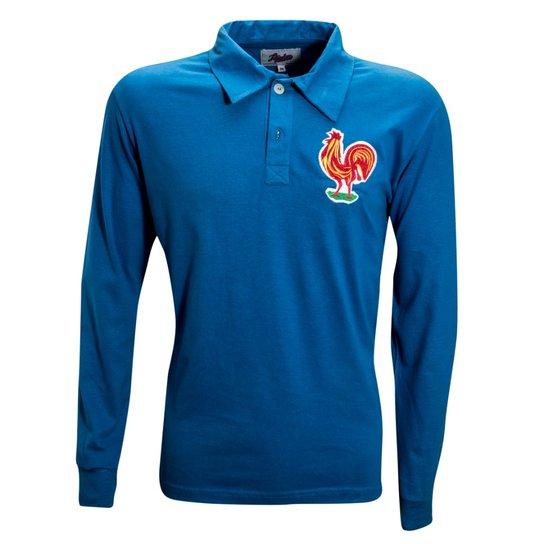 0dab820cac Camisa Liga Retrô França 1958 - Azul Royal | Netshoes