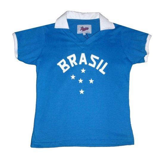 Camisa Liga Retrô Infantil Brasil 1952 - Compre Agora  a10bee06894e7