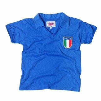 fd0a4097790d9 Camisa Liga Retrô Infantil Itália 1982