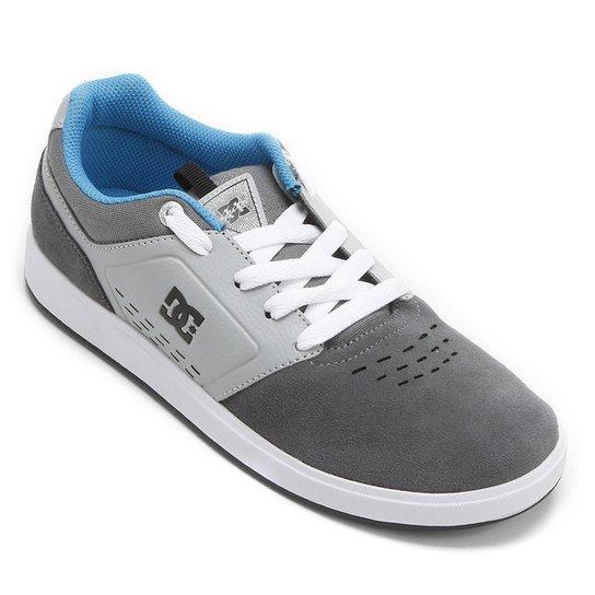 f2f02e94c7 Tênis DC Shoes Cole Signature Ys - Cinza+Azul Claro