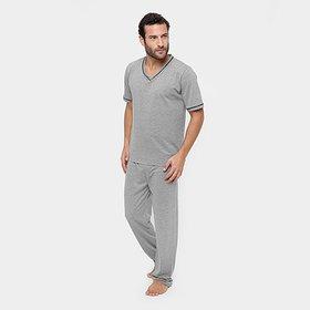 65a8a6d5e Pijama Masculino Recco Microfibra Amni 09057 - Compre Agora