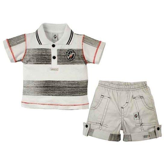 Conjunto Polo Shorts Menino Vasco Reve Dor - G - Compre Agora  4c5c7cf6ce6f3