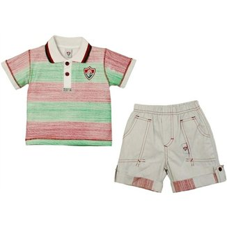 ac3732977d Conjunto Polo Shorts Meia Malha Oxford Menino Fluminense Reve Dor - 8 Anos