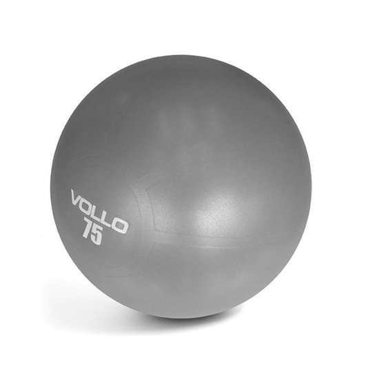 Bola Pilates Gym Ball Com Bomba 75Cm Vp1036 Vollo - Cinza - Compre ... c317bdf78d1ba