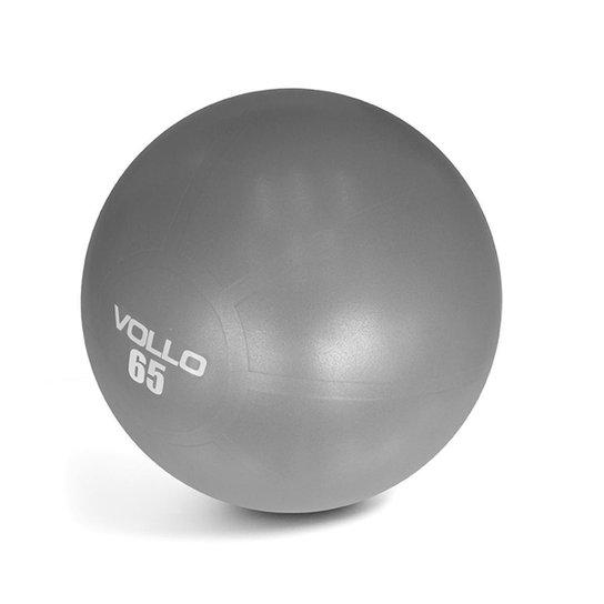 Bola Pilates Gym Ball Com Bomba 65Cm Vp1035 Vollo - Cinza - Compre ... 78fe415aa9868
