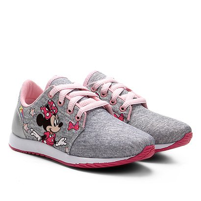 Tênis Infantil Disney Jogging Minnie Moletom Feminino