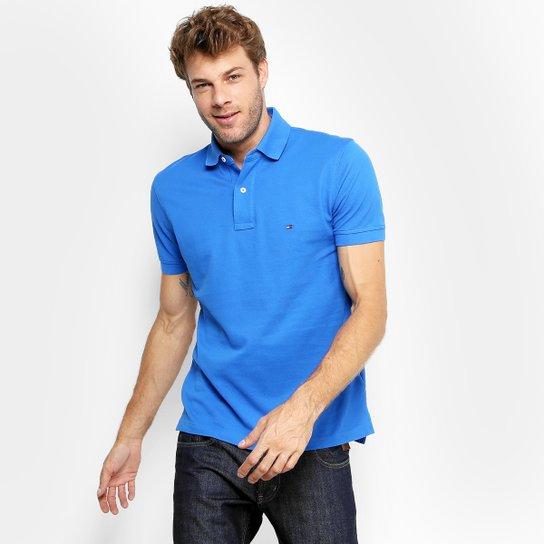 3f3ecba7b Camisa Polo Tommy H. Piquet Regular Fit Clássica Masculina - Azul Royal